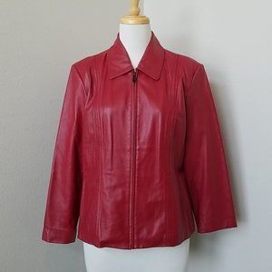 Preston & York Red Leather Lambskin Jacket